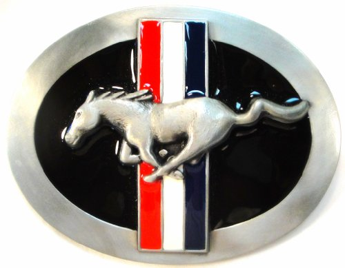 FORD MUSTANG BELT BUCKLE - Ford Pewter Belt Buckle