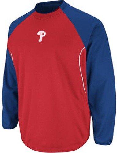 Base Mlb Therma Tech Fleece (Philadelphia Phillies MLB Authentic Therma Base Tech Fleece Big & Tall Sizes (2XT))