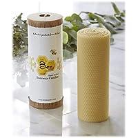"8"" Hand-Rolled Beeswax Pillar Candle - Little Bee of Connecticut, Martha Stewart American Made Maker"
