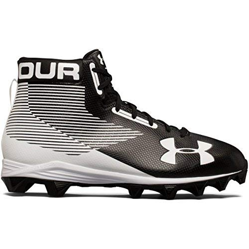 Under Armour New Mens Hammer Mid RM Football Cleats Black/White Size 11.5 Wide