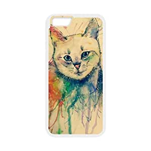 """Watercolor cat DIY Cover Case for iPhone6 4.7"""",customized Watercolor cat Phone Case"""