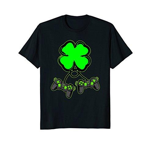 St Patricks Day Shirt - Clover Video Game Controller Shirt