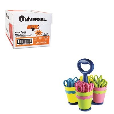 KITACM14755UNV21200 - Value Kit - Westcott School Scissor Caddy and 24 Kids Scissors With Microban (ACM14755) and Universal Copy Paper (UNV21200)