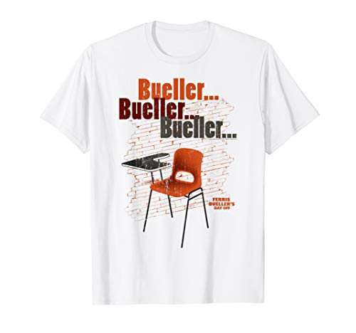 Ferris Bueller's Day Off Empty School Desk T-Shirt, 5 Colors, Men or Women