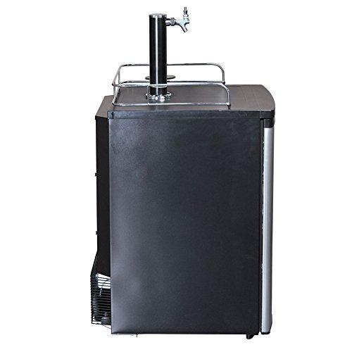 SMETA Freestanding Draft Beer Dispenser with Beer tower Beer keg cooler refrigerator 4.9 cu ft,Stainless steel by SMETA (Image #3)