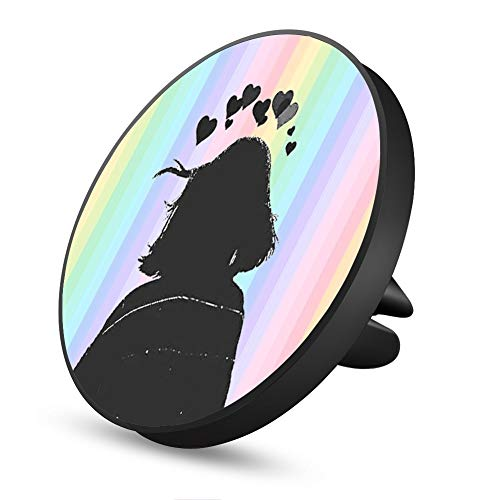 Girl Under The Rainbow Magnetic Mount, Air Vent Magnetic Car Mount Phone Holder, for Cell Phones and Mini Tablets with Fast Swift-Snap Technology