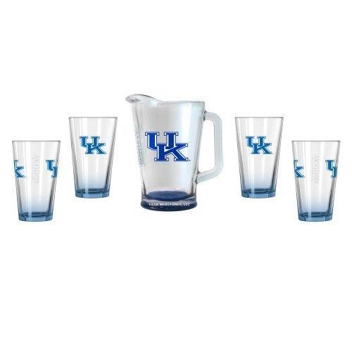 Cat Pitcher (NCAA Kentucky - Elite Pint (4) & Pitcher Set (1) | UK Wildcats Beer Pitcher Gift Set)