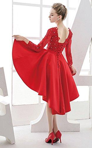 Vimans -  Vestito  - linea ad a - Donna Red 46
