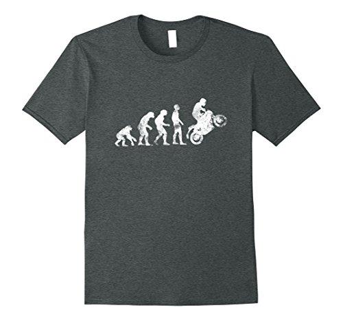 Mens Motorcycle Tees: Motorbike Evolution T-Shirt Large Dark (Bike Evolution T-shirt)