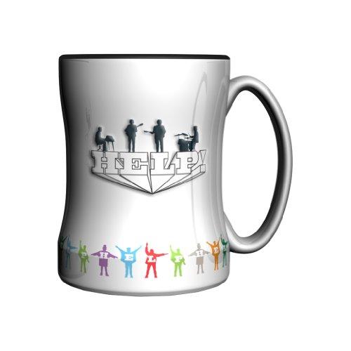 Boelter Brands The Beatles Relief Mug, 14-Ounce, Help