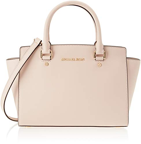 Michael Kors Womens Selma Satchel Pink (SOFT PINK) (Satchel Soft Large Leather)
