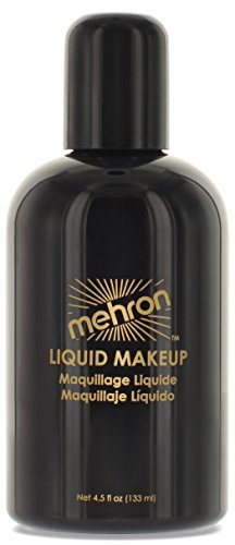 Costumes Custom Theater (Mehron Makeup Liquid Face & Body Paint, BLACK -)