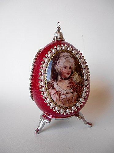 Red Decorative Ceramic Easter egg