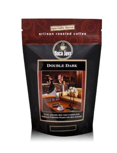 Double Dark, Dark Chocolate Flavored Coffee, Dark Roast, Whole Bean, 8oz (2 Pack)