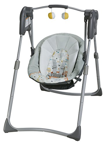 Discover Bargain Graco Slim Spaces Compact Baby Swing, Linus