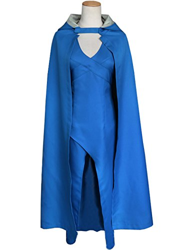 Annymall Women's Dress with Cloak, Cosplay Costume Top Design for Game of Thrones , Targaryen , Halloween , Masquerade Party