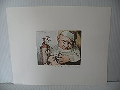 """Art print Charles Bragg artistic Signed Color Lithograph """"THE GAS MAN"""" limited E."""