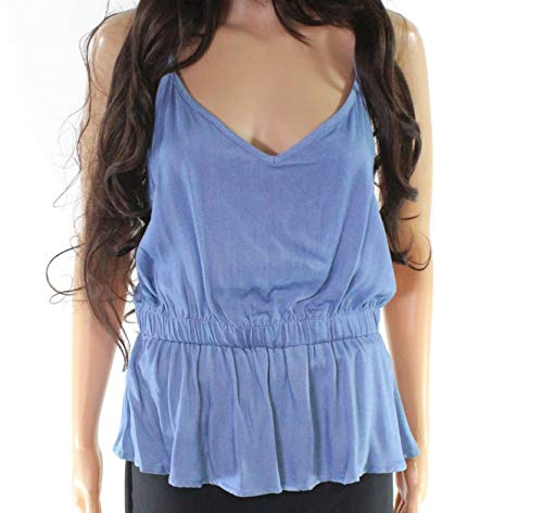 (Tresics Women's Small V-Neck Cinched Waist Tank Top $30 Blue S)