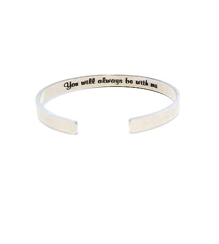 c751293f7b203 Amazon.com: Silver Cuff Bracelet - Secret Message Bracelet ...