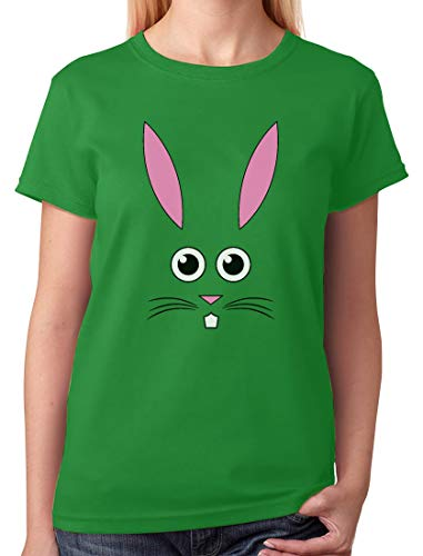 - Easter Bunny Face - Best Gift for Easter Funny Girls/Women T-Shirt Large Green