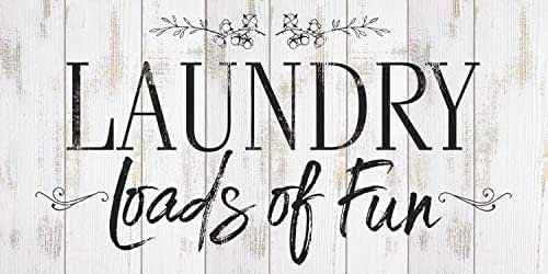 Amazon Com Laundry Loads Of Fun Large Canvas Not Printed On Wood Stretched On A Heavy Wood Frame Ready To Hang Perfect Laundry Room Decor Great Housewarming Gift Under 50 Handmade