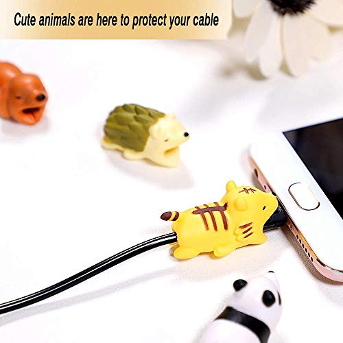 EnjoCho Animal Cable Bite Protector for Iphone Cable Winder Panda Phone Holder Accessory Organizer Dog Cat Doll Toys (4PCS, J-2) by EnjoCho (Image #4)