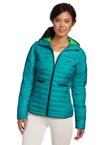 Columbia Women's Powder Pillow Jacket, Emerald, Small