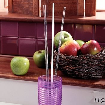 Reusable Drinking Straws Clear, Rigid 1/8' Hole, Pkg. of 10 - Model 1130