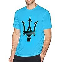 HANRUI Customized Maserati Trident Logo T Shirts for Boy 100% Cotton O-Neck Spider Baby Blue