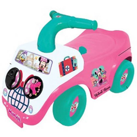 NEW! Disney Minnie Mouse Battery Operated Light and Music Activity Ride On Toy, Power Wheels Tot Powered