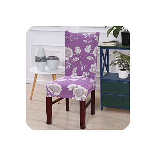 Flower Printing Stretch Elastic Chair Covers for Weddings Banquet Hotel Chair Cover Spandex housse de Chaise,colour21,Universal Size (Outdoor Hardware Restoration Chaise)