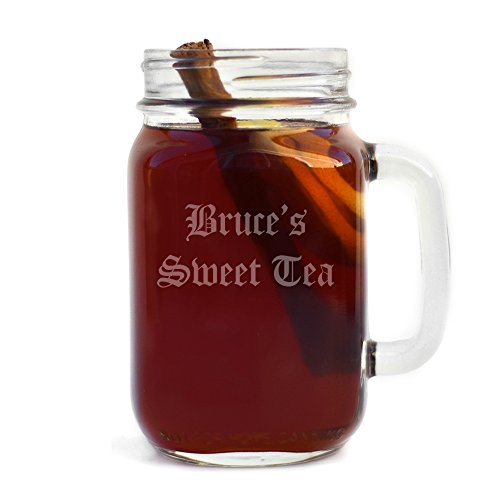 Review Personalized Handled Mason Jar Engraved with Your Custom Text