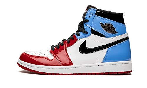 Jordan Air 1 Retro High (White/University-Blue-Varsity 10.5) (Air Jordan Ones Shoes)