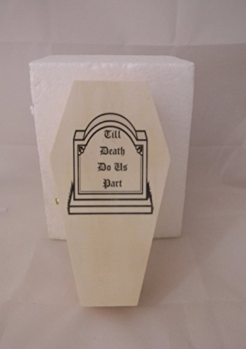 Wedding Party ceremony Gothic Wicca Coffin Tombstone ring bearer pillow Box by Custom Design Wedding Supplies by Suzanne (Image #1)