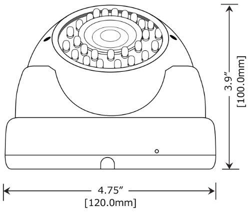 Amview HD 1800TVL 2.8-12mm Varifocal Lens 36pcs infrared LEDs Night Vision CCTV Security Surveillance Camera System