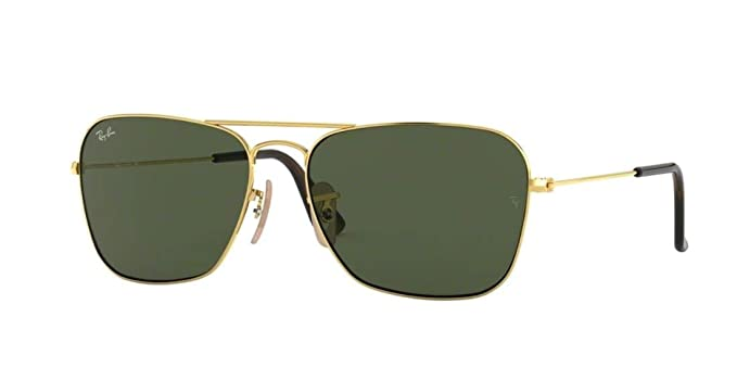 73df94b6e9 Ray-Ban RB3136 181 Unisex Caravan Sunglasses (Havana Gold Frame Dark Green  Lens