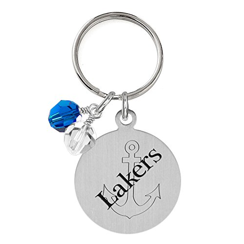 Lake Superior State Lakers Dog Tag with Crystals | Pet Tag | Small Size | Cat Tag | College Pet Tags