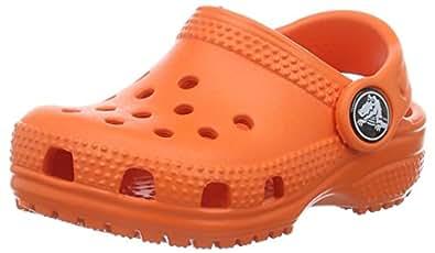 Crocs Unisex Kids Classic Clog, Tangerine, J1