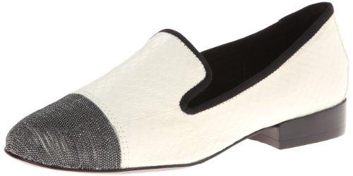 Dolce Vita Womens Coco Slip-on Dagdriver Hvit Slange Skinn