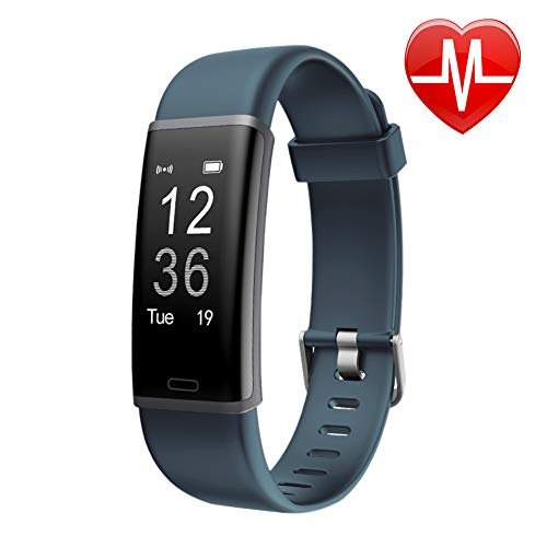 LETSCOM Fitness Tracker with Heart Rate Monitor Watch, Activity Tracker with Step Counter, Pedometer, Calorie Counter Watch for Kids Women Men
