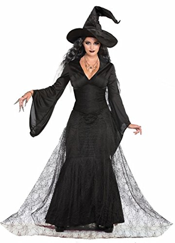 Forum Novelties Black Mist Witch Costume, Multi/Color, Medium/Large