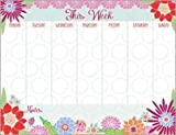 Blooming Colors Magnetic Weekly Calendar Pad with attachable magnet