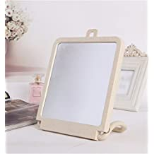 Beauty Mirror Makeup Mirror Magnification Vanity Cosmetic Mirrors Shaving Mirror Hd Single-Sided Desktop Makeup Mirror Vanity Mirror Hanging Desktop Home Bedroom Princess Mirror 29×18Cm