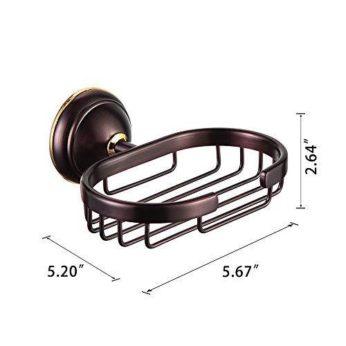 CROWN Bronze Soap Dish/Basket Oil Rubbed Bronze Wall Mount for Bathroom Shower Kitchen Soap Savor, Solid Brass CR208
