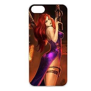 MissFortune-005 League of Legends LoL case cover for Apple iPhone 5/5S - Plastic White