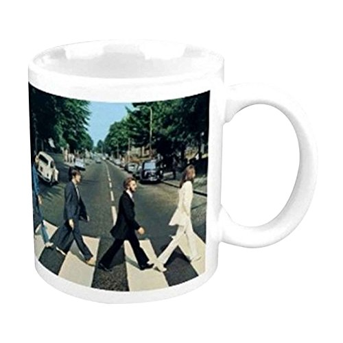 - The Beatles Mug Abbey Road Crossing photo new official white Boxed