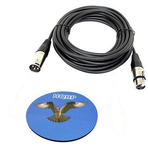 HQRP Câble cordon XLR mâle vers XLR femelle 3 broches pour Behringer B-1, B-2, B-5, ECM8000, XM8500 C-1, C-2, C-3, C-4 Microphones