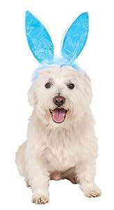 Amazon.com : Crinkle Blue Bunny Ears Pet Headband, Medium