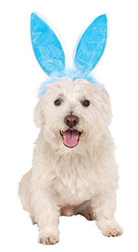 Crinkle Blue Bunny Ears Pet Headband, Medium/Large