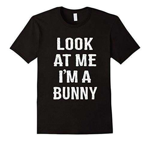 Mens Bunny Halloween Easy Costume Shirt Men Women Kids Adult Medium (All Black Bunny Costumes)